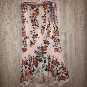 Vici White Floral Skirt Set